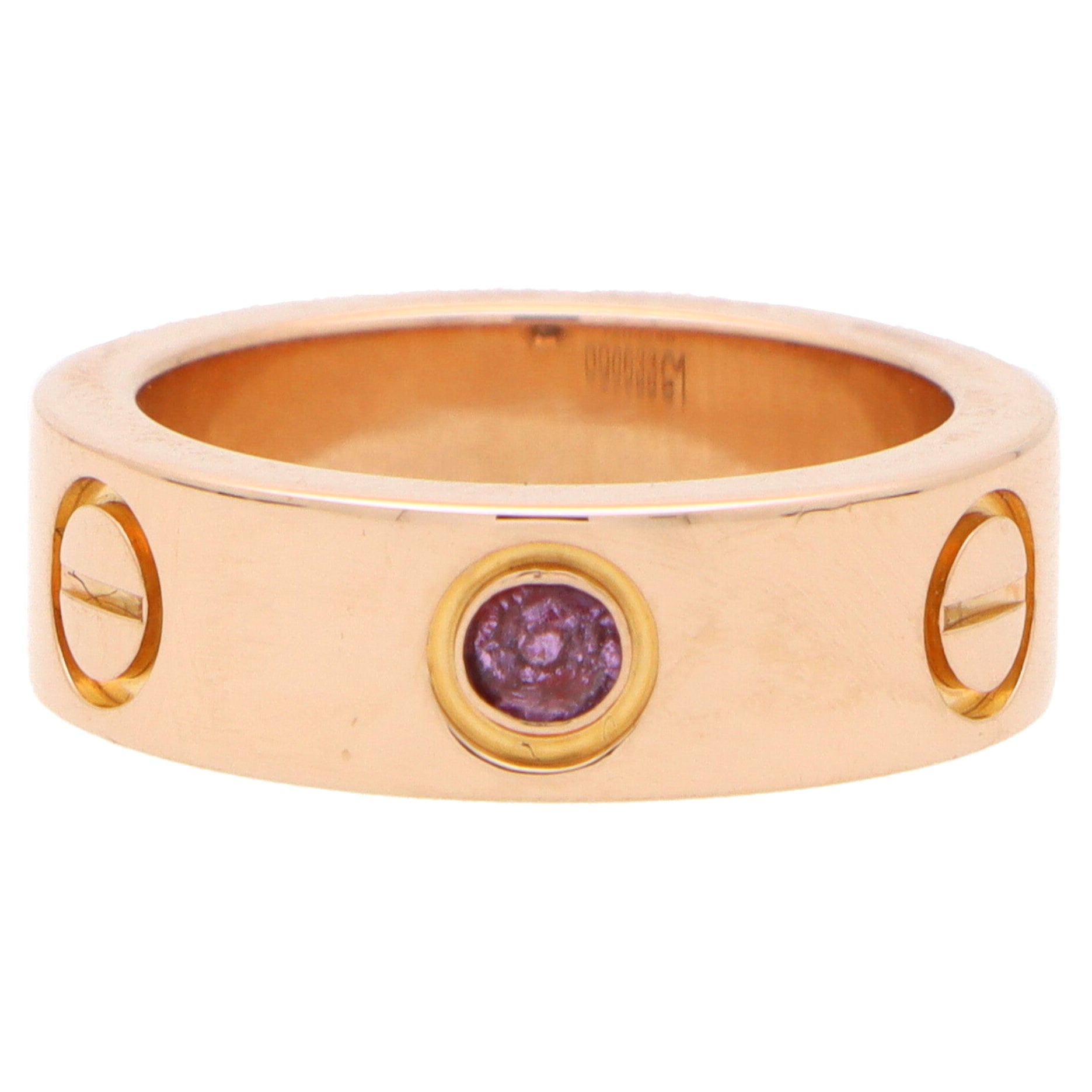 Vintage Cartier Pink Sapphire Love Ring in 18k Rose Gold