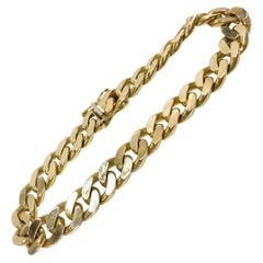 14 Karat Flat-Curb Link Bracelet