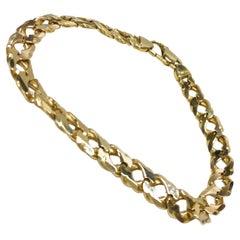 14 Karat Beveled Curb-Link Bracelet