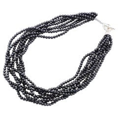 Tiffany&Co. Sterling Silver Hematite Necklace