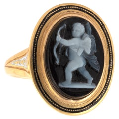 Victorian Carved Hardstone Cameo Ring