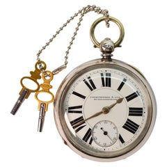 Collinwood & Sons Sterling Silver Railroad Pocket Watch