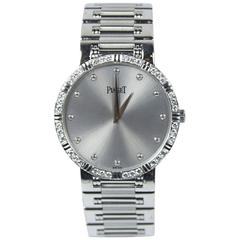PIAGET 18KT White Gold Watch with Pave Diamonds