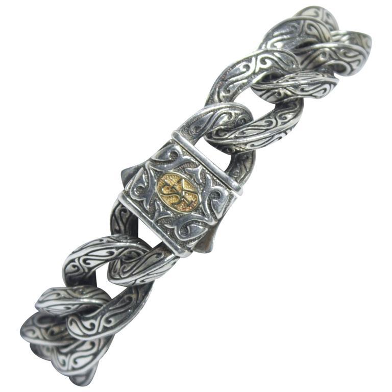 Scott Kay 18kt Yellow Gold Sterling Silver Men S Bracelet