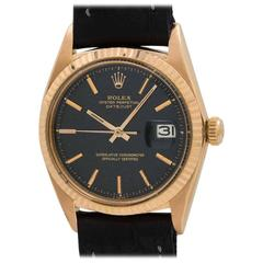 Rolex Rose Gold Datejust Wristwatch Ref 1601