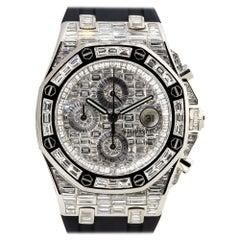 Audemars Piget Royal Oak Offshore 18k White Gold All Diamond Watch