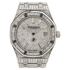 Audemars Piguet Royal Oak Stainless Steel All Diamond Watch