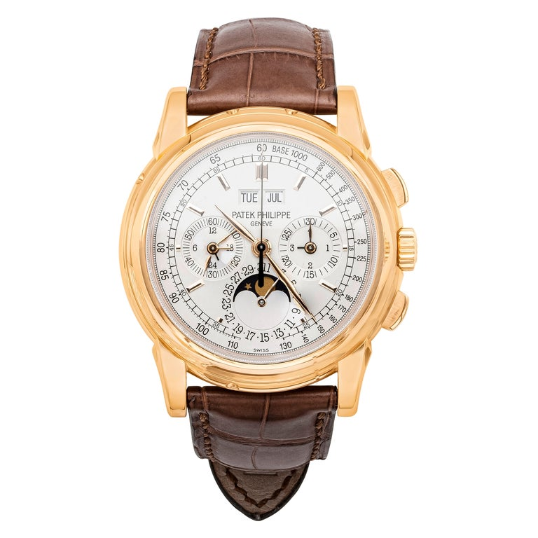 Patek Philippe 5970R Grand Complications Perpetual Calendar Chronograph Watch For Sale