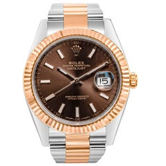 Rolex Datejust 40 Chocolate Brown Dial Two-Tone Wristwatch Ref. 126331
