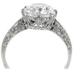 Tiffany & Co. Art Deco Cushion Brilliant Cut Diamond Platinum Ring
