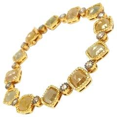 14Kt Yellow Gold 18.06ct Diamond Link Bracelet