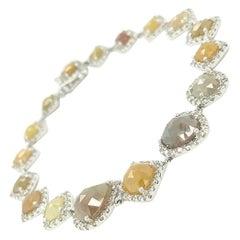 14Kt White Gold 14.20ct Diamond Link Bracelet
