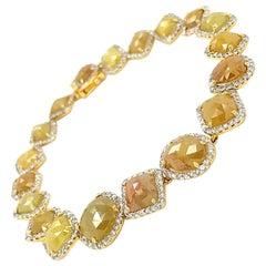 14Kt Yellow Gold 18.27ct Diamond Link Bracelet