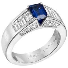 Boucheron Sapphire Diamond Gold Ring