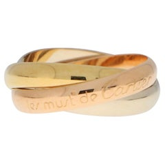 Cartier Trinity Ring 18 Karat Yellow, Rose and White Gold