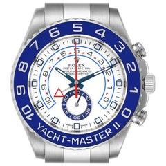 Rolex Yachtmaster II 44 Blue Cerachrom Bezel Mens Watch 116680