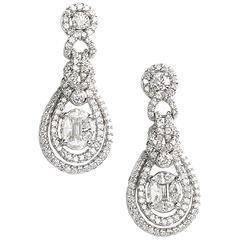 Diamond 1.85ct 18ct White Gold Drop Earrings