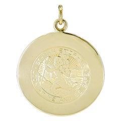 Cartier St. Christopher Gold Charm Pendant