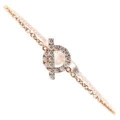 Hermes Finesse Bracelet 18K Rose Gold and Diamonds