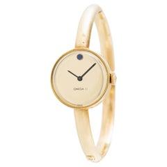 Vintage 14 Karat Yellow Gold Manual Wind Omega Watch