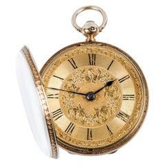 XIX Century Open-Face Gold Pocket Watch R. Stewart