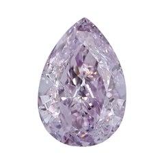 GIA Certified Natural Fancy Purplish Pink Polished Diamond