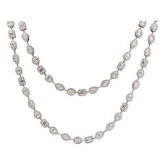 Multi-Shape Diamond Chain Necklace