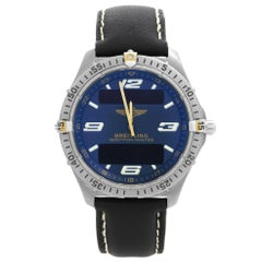 Breitling Aerospace Titanium Blue Dial Quartz Digital Analog Mens Watch F65062