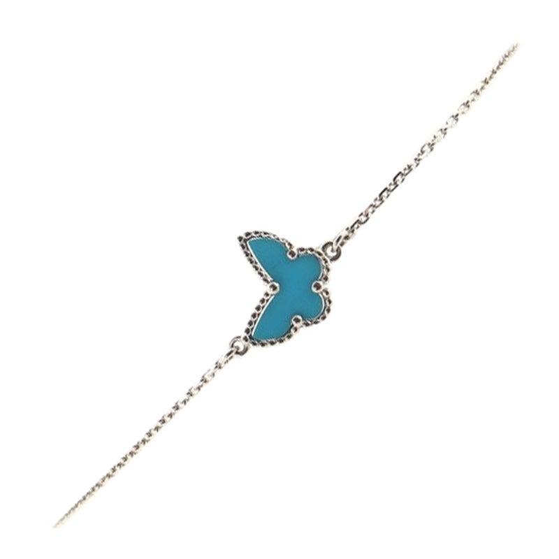 Van Cleef & Arpels Sweet Alhambra Butterfly Bracelet 18K White Gold and T