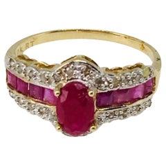 Ruby Ring 14 Karat Yellow Gold