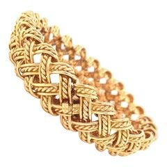 Vintage Boucheron Paris 18k Gold Woven Bracelet
