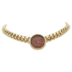 Bvlgari 'Monete' Yellow Gold Coin Necklace