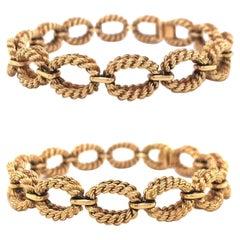Retro Boucheron Gold Bracelet Set