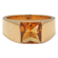 Cartier Tank Yellow Gold and Citrine Ring
