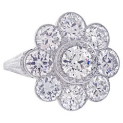 Edwardian Old European Diamond Cluster Ring