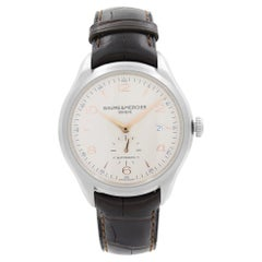 Baume & Mercier Clifton Steel Silver Dial Automatic Mens Watch M0A10054