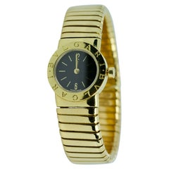 Bvlgari Tubogas 18k Yellow Gold Flexible Watch with Box and Warranty Card