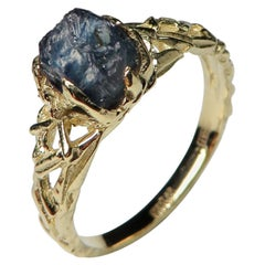 Alexandrite Crystal Gold Ring Raw Tanzanian Gemstone Healing Rough Stones Ring