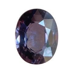 Rare 1.38ct Untreated Colour Change Sapphire Pink Purple Oval Cut Loose Gem