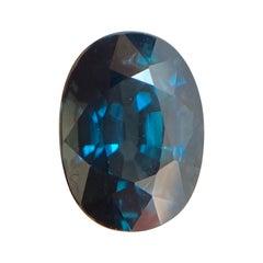 Fine Vivid Blue Green Teal Sapphire 1.33ct Oval Cut Loose Gem