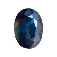 Fine Deep Blue Australian Sapphire 0.87ct Oval Cut Loose Rare Gem