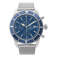 Breitling Superocean Heritage Chronograph Steel Blue Dial Mens Watch A13320