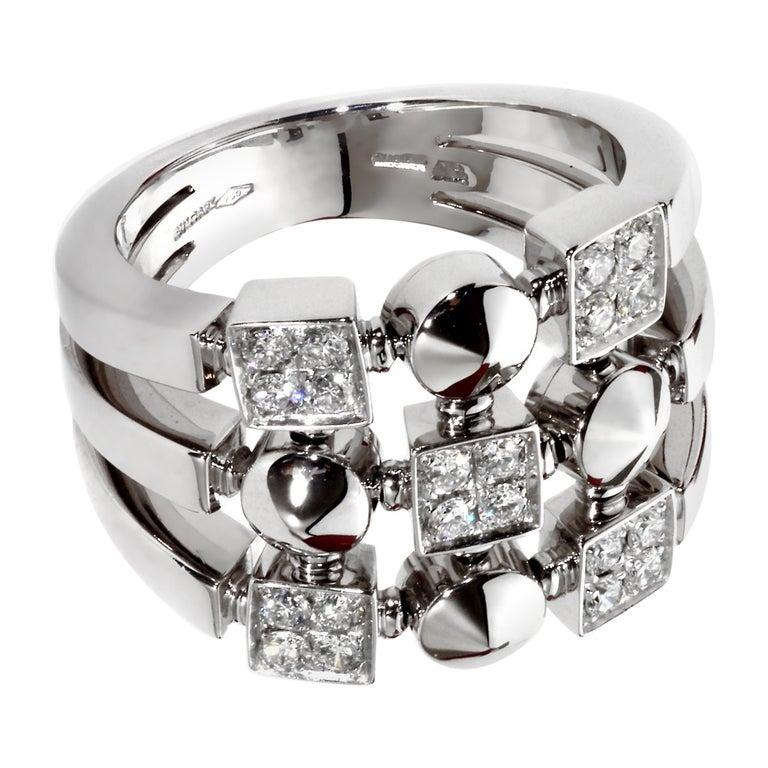 Bvlgari Lucea White Gold Diamond Cocktail Ring For Sale