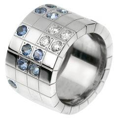 Cartier Lanieres Sapphire Diamond White Gold Ring