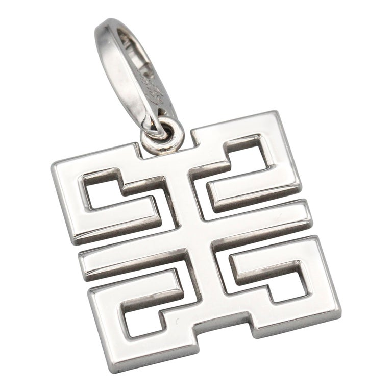 """Cartier 18 Karat White Gold """"Happiness"""" Character Charm For Sale"""