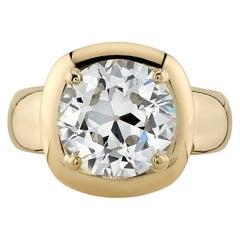 Handcrafted Cori Old European Cut Diamond Ring by Single Stone