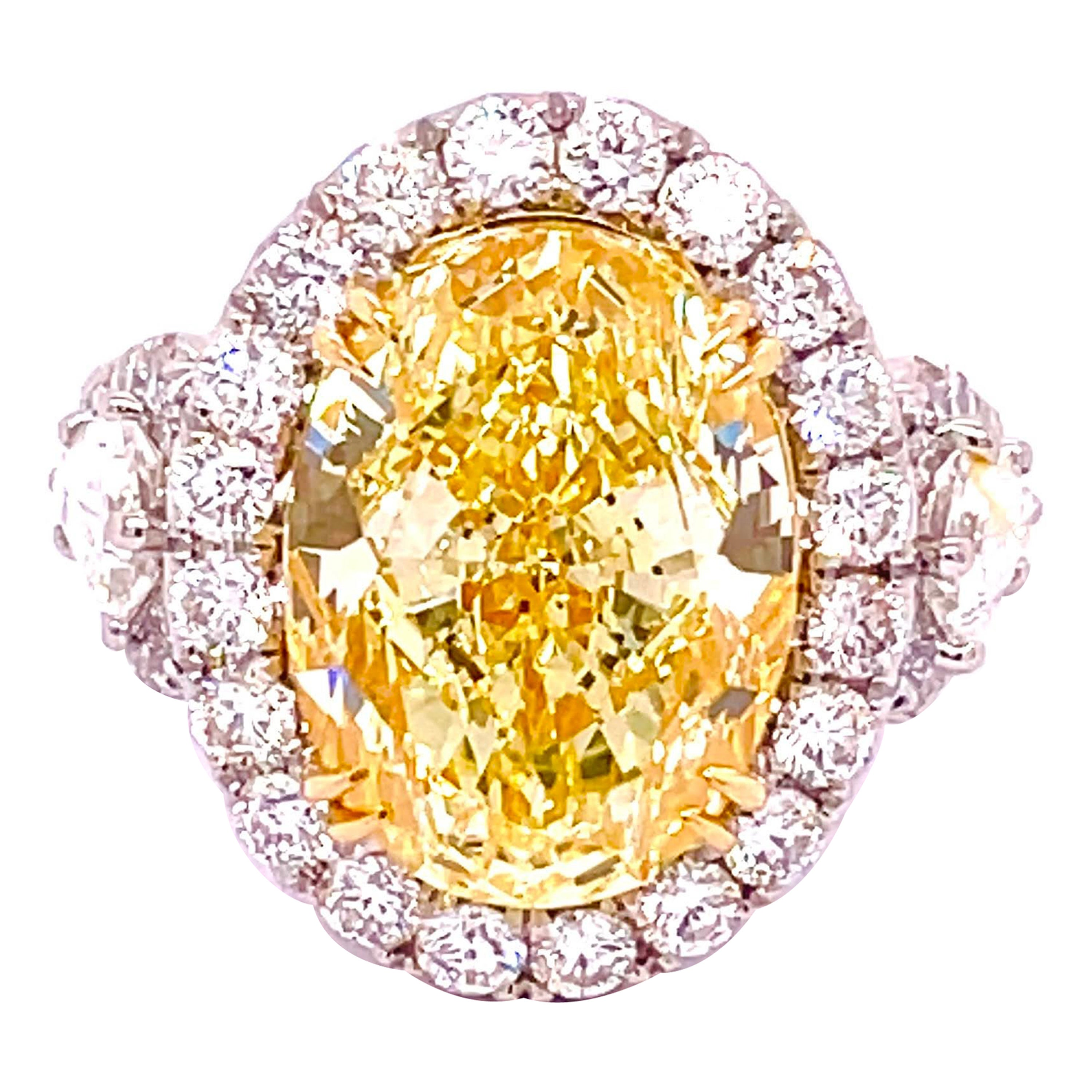 GIA Certified 8.32 Carat Oval Diamond Engagement Ring