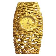 Omega Gilbert Albert Ladies Watch 18 Karat Yellow Gold Vintage