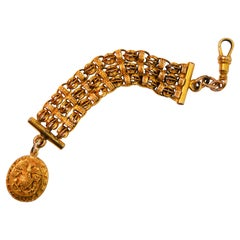 Antique 14K Yellow Gold Fancy Watch Fob with Gold Charm