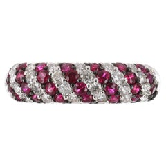 0.90tcw 14K Ruby & Diamond Stacking Ring Band